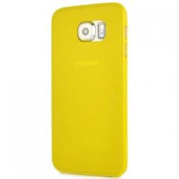 Ploniausias plastikinis dėklas - geltonas (Galaxy S6)