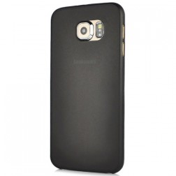 Ploniausias plastikinis dėklas - juodas (Galaxy S6)