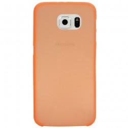 Ploniausias plastikinis dėklas - oranžinis (Galaxy S6)