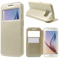 """""""Roar"""" Noble atverčiamas dėklas - auksinis (Galaxy S6)"""