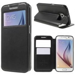 """""""Roar"""" Noble atverčiamas dėklas - juodas (Galaxy S6)"""