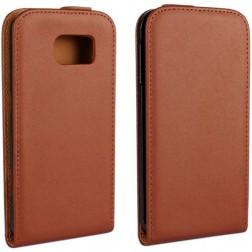 Klasikinis atverčiamas dėklas - rudas (Galaxy S6)