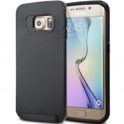 Sustiprintos, dvigubos apsaugos dėklas - juodas (Galaxy S6)