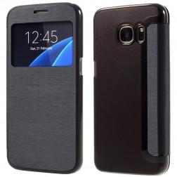 """Atverčiamas """"View Window"""" dėklas - juodas (Galaxy S7)"""