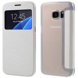 """Atverčiamas """"View Window"""" dėklas - baltas (Galaxy S7)"""