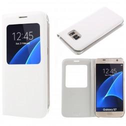 Atverčiamas dėklas su langeliu - baltas (Galaxy S7)