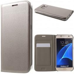 """""""Smart Wallet"""" atverčiamas dėklas - auksinis (Galaxy S7)"""