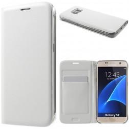 """""""Smart Wallet"""" atverčiamas dėklas - baltas (Galaxy S7)"""
