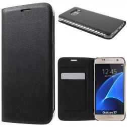 """""""Smart Wallet"""" atverčiamas dėklas - juodas (Galaxy S7)"""
