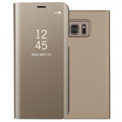Plastikinis atverčiamas dėklas - auksinis (Galaxy S7)