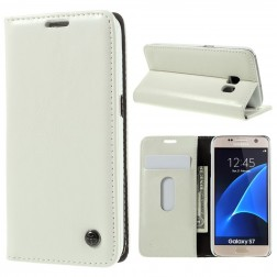 """""""CaseMe"""" solidus atverčiamas dėklas - baltas (Galaxy S7)"""