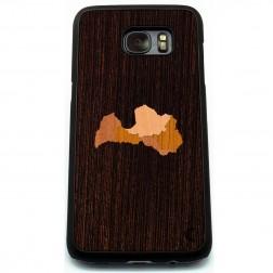 """""""Crafted Cover"""" natūralaus medžio dėklas - Latvija (Galaxy S7)"""