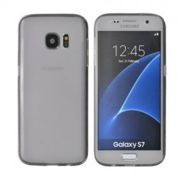 Pilnai dengiantis TPU skaidrus dėklas - pilkas (Galaxy S7)