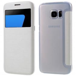 """Atverčiamas """"View Window"""" dėklas - baltas (Galaxy S7 Edge)"""