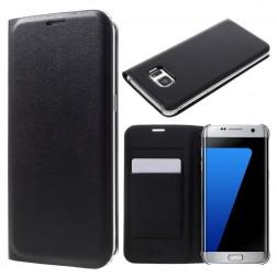"""""""Smart Wallet"""" atverčiamas dėklas - juodas (Galaxy S7 Edge)"""