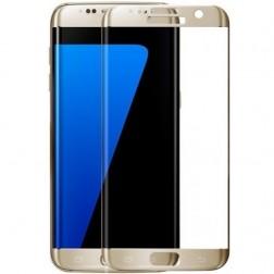"""3D Rewan"" Tempered Glass apsauginis ekrano stiklas 0.26 mm - auksinis (Galaxy S7 Edge)"
