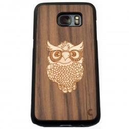 """""""Crafted Cover"""" natūralaus medžio dėklas - Pelėda (Galaxy S7 Edge)"""