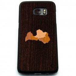 """""""Crafted Cover"""" natūralaus medžio dėklas - Latvija (Galaxy S7 edge)"""