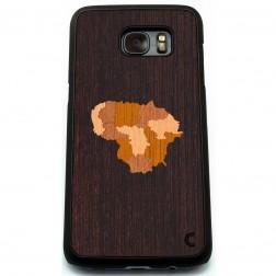 """""""Crafted Cover"""" natūralaus medžio dėklas - Lietuva (Galaxy S7 Edge)"""