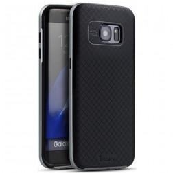 """""""IPAKY"""" kieto silikono (TPU) dėklas - juodas / pilkas (Galaxy S7 Edge)"""