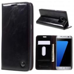 """""""CaseMe"""" solidus atverčiamas dėklas - juodas (Galaxy S7 Edge)"""