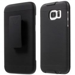 Plastikinis dėklas prie diržo - juodas (Galaxy S7 Edge)