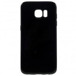 Kieto silikono (TPU) dėklas - juodas (Galaxy S7 edge)