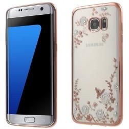 """""""Nature"""" silikoninis skaidrus dėklas, rožinis (Galaxy S7 edge)"""