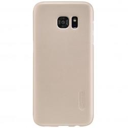 """""""Nillkin"""" Frosted Shield dėklas - auksinis + apsauginė ekrano plėvelė (Galaxy S7 Edge)"""