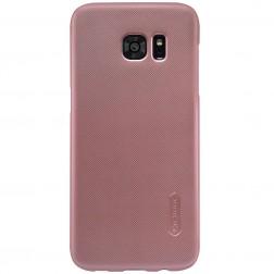 """""""Nillkin"""" Frosted Shield dėklas - rožinis + apsauginė ekrano plėvelė (Galaxy S7 Edge)"""