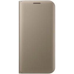 """""""Samsung"""" Flip Wallet Cover atverčiamas dėklas - auksinis (Galaxy S7 Edge)"""