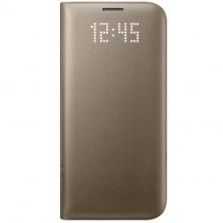 """""""Samsung"""" Led View Cover atverčiamas dėklas - auksinis (Galaxy S7 Edge)"""