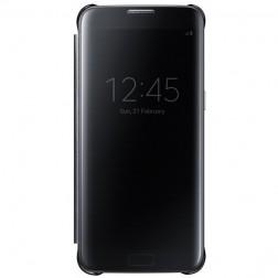 """""""Samsung"""" Clear View Cover atverčiamas dėklas - juodas (Galaxy S7 Edge)"""