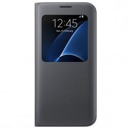 """""""Samsung"""" S View Cover atverčiamas dėklas - juodas (Galaxy S7 Edge)"""
