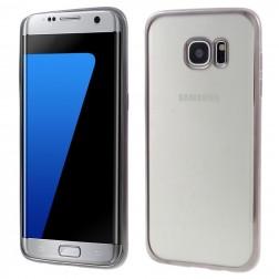 Silikoninis skaidrus dėklas, pilkas (Galaxy S7 edge)