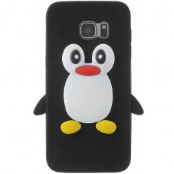Žaismingas silikoninis dėklas - pingvinas (Galaxy S7 Edge)