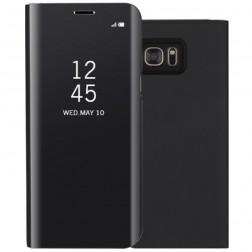 Plastikinis atverčiamas dėklas - juodas (Galaxy S7 Edge)