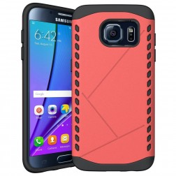 Sustiprintos apsaugos dėklas - raudonas (Galaxy S7 edge)