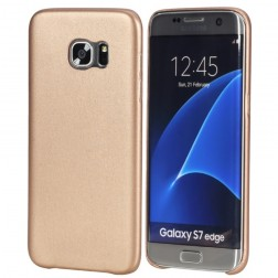 """""""Rock"""" Slim Leather dėklas - auksinis (Galaxy S7 Edge)"""