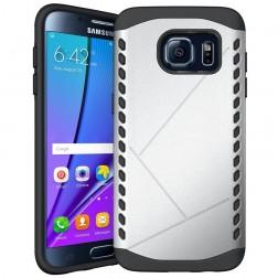 Sustiprintos apsaugos dėklas - sidabrinis (Galaxy S7 edge)