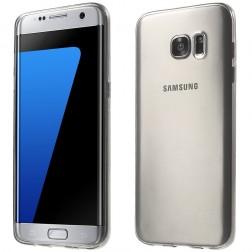 Ploniausias TPU dėklas - skaidrus, pilkas (Galaxy S7 Edge)