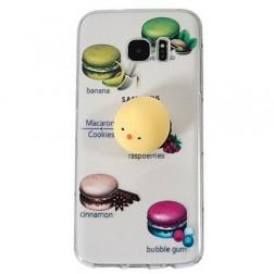 """""""Squezy"""" Yolk kieto silikono (TPU) dėklas - skaidrus (Galaxy S7 Edge)"""