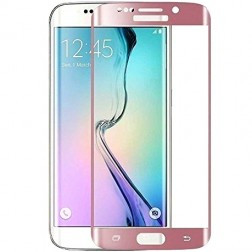 """""""Calans"""" 9H Tempered Glass pilnai dengiantis apsauginis ekrano stiklas 0.2 mm - rožinis (Galaxy S7 Edge)"""