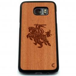 """""""Crafted Cover"""" natūralaus medžio dėklas - Vytis (Galaxy S7 edge)"""