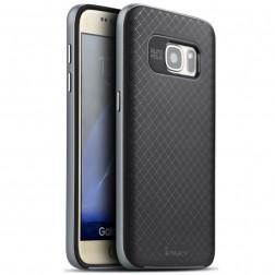 """""""IPAKY"""" kieto silikono (TPU) dėklas - juodas / pilkas (Galaxy S7)"""