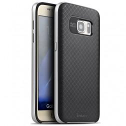 """""""IPAKY"""" kieto silikono (TPU) dėklas - juodas / sidabrinis (Galaxy S7)"""