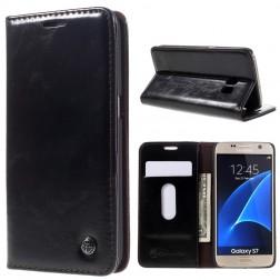 """""""CaseMe"""" solidus atverčiamas dėklas - juodas (Galaxy S7)"""