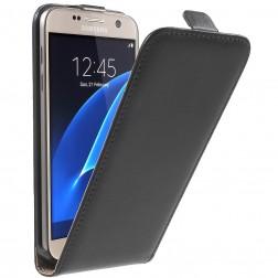 Klasikinis atverčiamas dėklas - juodas (Galaxy S7)
