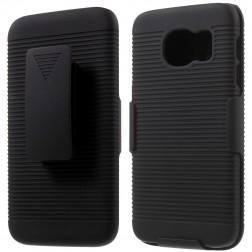 Plastikinis dėklas prie diržo - juodas (Galaxy S7)