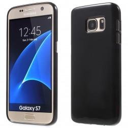 Kieto silikono (TPU) dėklas - juodas (Galaxy S7)